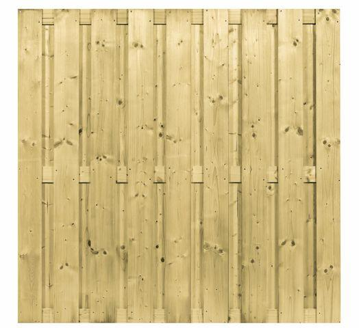 Carpgarant - Schutting 17 planks Recht - 180x180cm