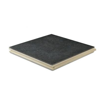 Excluton - Kera Quite Light Paving - 60x60x4 cm - Black