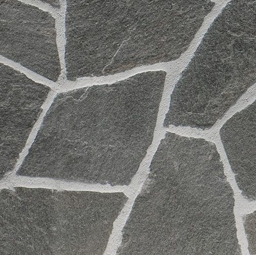 Excluton - Flagstones Tegels - 20/35mm - Karistos Black