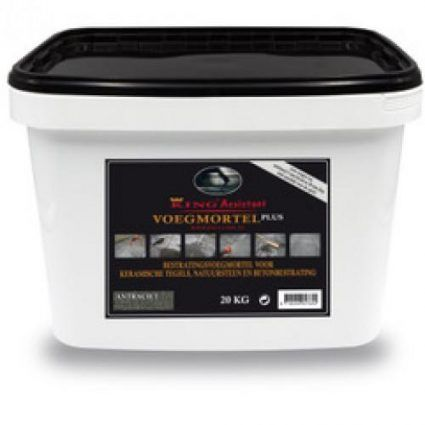 Excluton - King-Fix voegmiddel plus ( 20kg per emmer) - antraciet