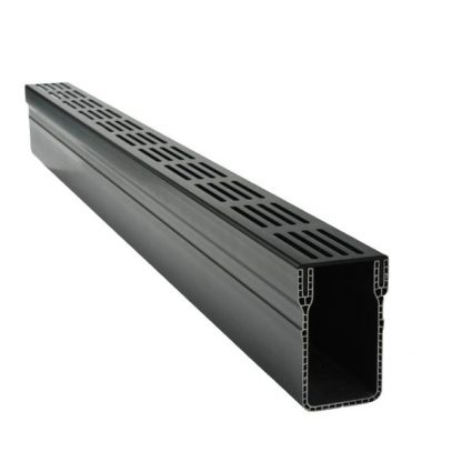 Michel Oprey - Aquadrain Black Grating 100x10x6,5 cm zwart