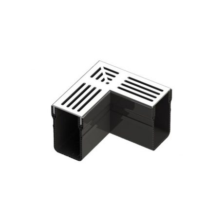 Michel Oprey - Aquadrain Corner Grey Grating 6,5 cm  grijs